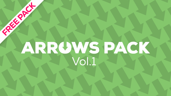 Free animated vector arrows pack