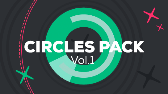 Animated vector circles