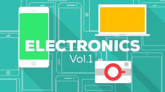 Flat design electronic devices - phones, computers