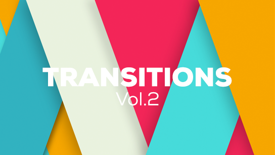 3D flat design transitions