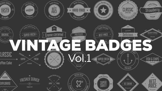 Animated vintage badges