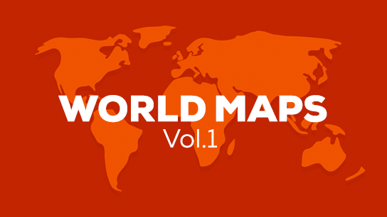 World map animations